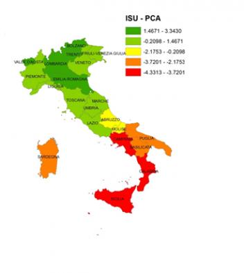 La distribuzione del benessere in italia diversit tra for Piani di vita del sud